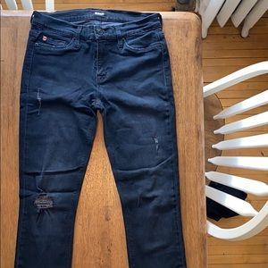 Black/grey stretchy Hudson jeans (26)